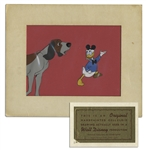 Disney Cel Featuring Donald Duck in Mickey Mouse Ears
