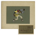 Original Disney Cel Depicting Goofy Dressed as a Golfer