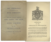 Program From the Coronation of King George VI & Queen Elizabeth in 1937