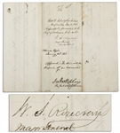 General William S. Rosecrans Civil War Document Signed, Dated Christmas Day of 1862 from Nashville