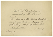 1842 Royal Invitation to Queen Victorias Buckingham Palace