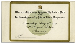 King George V Wedding Invitation
