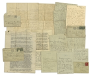 Lot of 6 Letters from Woodrow Wilsons Family -- During WWI: ...at this dangerous time the White House is not a place for functions of any kind...