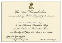 Queen Elizabeth II Party Invitation