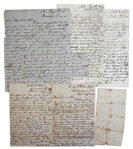 Lot of 5 Confederate Letters From KIA Soldier, James W. Anthony of the 11th Alabama -- 1 Civil War Dated Letter -- ...I volunteered...to fight for the rights of our lovely south...