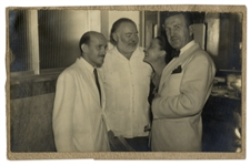 Original Photograph of Ernest Hemingway, His Rumored Mistress Adriana Ivancich & Friends at La Floridita Bar in Havana, Cuba