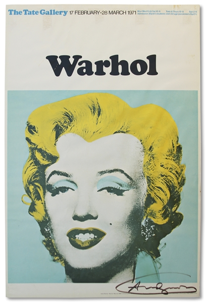 Andy Warhol Liz Taylor lithograph Andy Warhol Large Signed Poster of Marilyn Monroe