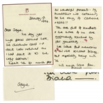 Princess Diana Autograph Letter Signed in 1994 on Kensington Palace Stationery -- ...You are full of kindness and the three of us are enormously touched...we have fond memories...