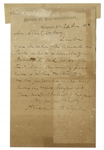 Alexander Stephens Autograph Letter Signed -- Upon House of Representatives Stamped Stationery