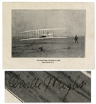Orville Wright Signed Photo of the Famous Flight at Kitty Hawk