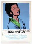Andy Warhol Signed Screenprint Poster From 1981