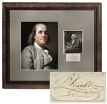Benjamin Franklin Signature -- With COA from JSA