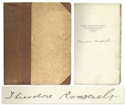 Theodore Roosevelt Signed First Edition of African Game Trails