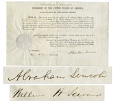 Abraham Lincoln April 1861 Signed Appointment as President -- Less Than a Week After the Start of the Civil War
