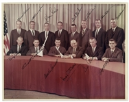 14 x 11 NASA Group 3 Photo Signed by 13 Astronauts -- Roger Chaffee, Clifton Williams, Charlie Bassett, Buzz Aldrin, Michael Collins, Alan Bean -- With Steve Zarelli COA