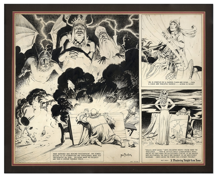 Al Feldstein Art ''Prince Valiant'' Comic Strip by Hal Foster From 5 October 1941