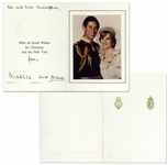 Princess Diana and Prince Charles Signed Royal Christmas Card From 1981 -- The First Year of Their Marriage