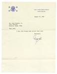 George H.W. Bush Letter Signed as Vice President -- I hope this brings some action!