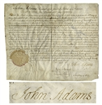 John Adams Document Signed as President