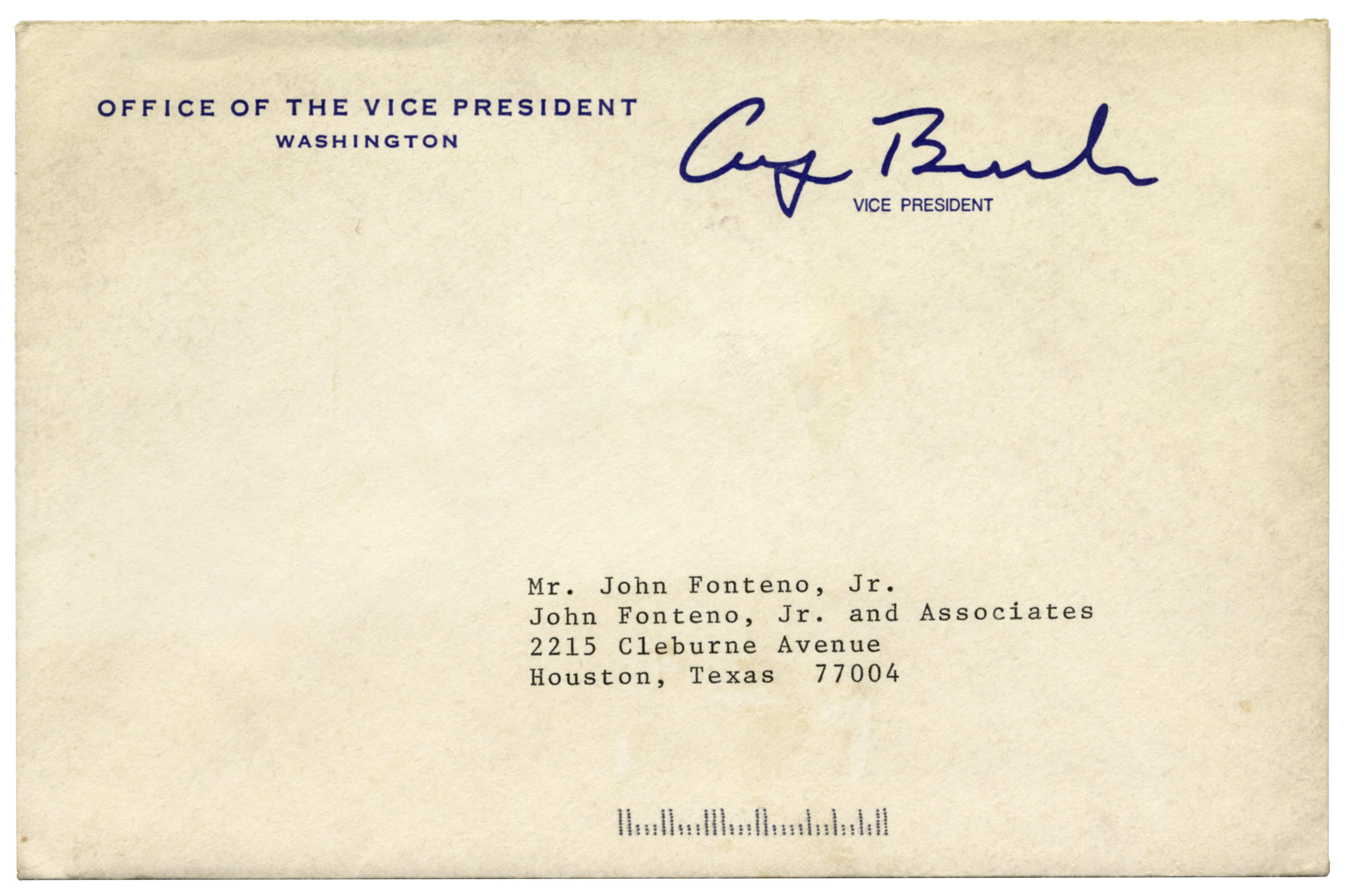 Lot Detail George H W Bush Letter Signed As Vice