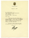 George H.W. Bush Letter Signed as Vice President