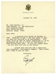 George H.W. Bush Letter Signed as Vice President -- I was very upset to hear you were not notified -- Bush Refers to His Announcement to Run for President