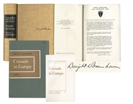 Dwight D. Eisenhower Signed D-Day Speech From Crusade in Europe in Fine Condition -- Rare Signed Speech Is Very Desirable Among Presidential & WWII Collectors