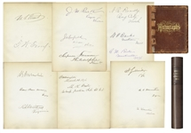 Presidents Ulysses S. Grant and James Garfield Sign This 19th Century Autograph Book -- Likely Signed by Grant as President