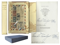 Charles Lindbergh Collectors Edition of His Story in Pictures -- With an Envelope Carried by Lindbergh on His First International Air Mail Flight