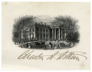 Chester Arthur Signed Engraving of the White House