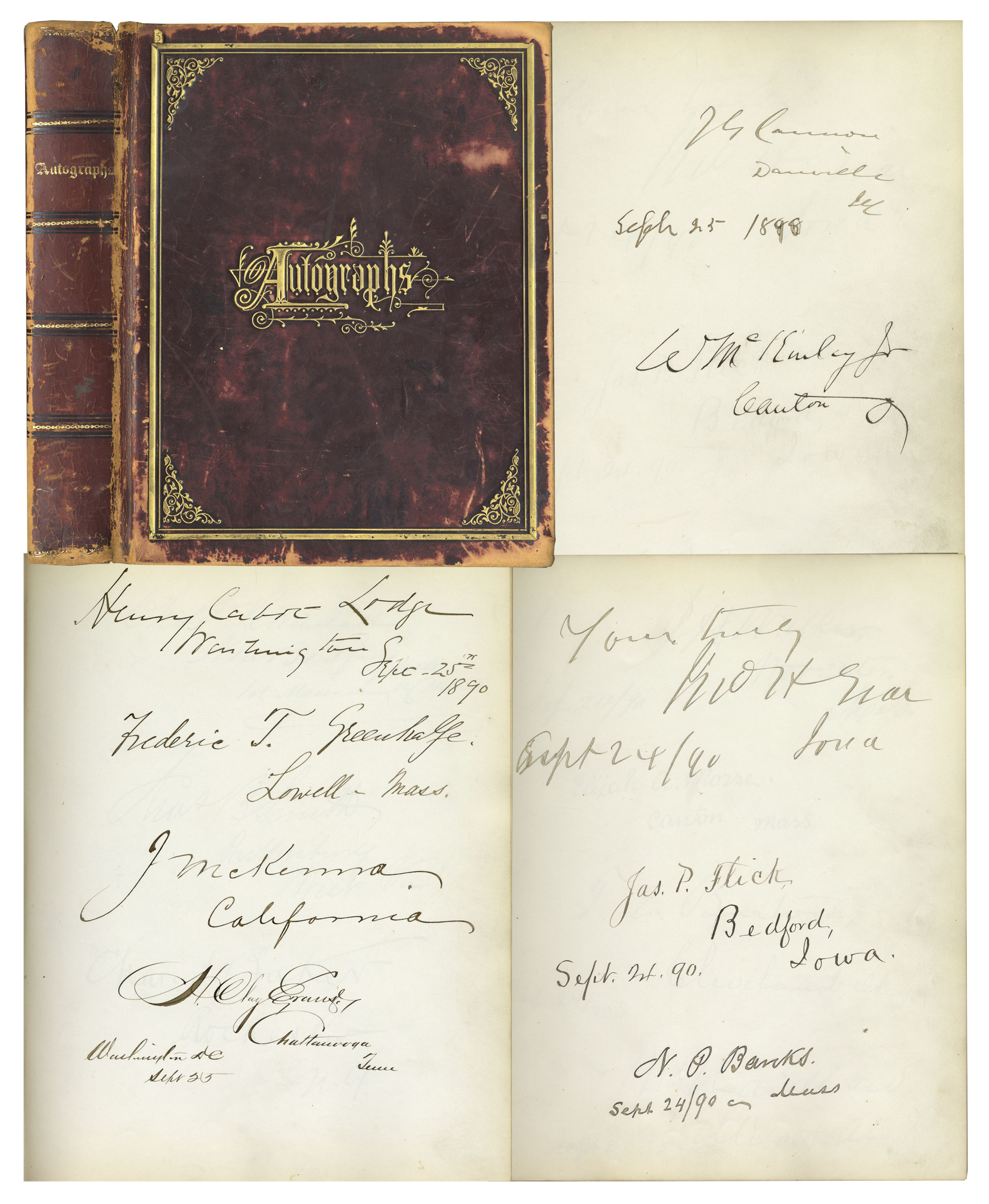 lot detail 19th century autograph book signed by 153 luminaries