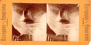 Liberty Bell Stereoview -- From European & American Views Series -- Circa 1870s