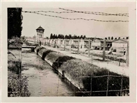 Original Photo of Dachau Concentration Camp -- Upon Velox Photo Paper From WWII