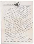 Miracle on 34th Street Actor Edmund Gwenn Autograph Letter Signed -- the Oscar Winning Kris Kringle Writes a Lengthy Letter, ...you will undoubtable come under its spell...