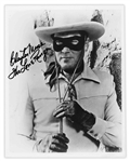 Clayton Moore 8 x 10 Signed Photo as The Lone Ranger -- Near Fine Condition