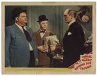 Laurel & Hardy Lobby Card -- From Nothing But Trouble