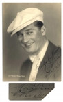 Maurice Chevalier Photo Signed