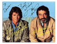 Michael Landon Signed Postcard From Highway to Heaven  -- Fine