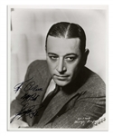 George Raft Signed 8 x 10 Photo -- Starred in Scarface and Some Like It Hot