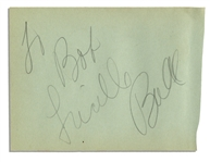 Lucille Ball Large and Rare Full Signature, To Bob / Lucille Ball