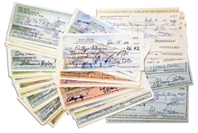 Lot of 100 Mary Astor Signed Checks