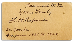 The Father of West Virginia, Francis Harrison Pierpont Signed Slip
