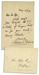 Charles D. Coburn Autograph Letter Signed