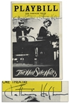 Katharine Hepburn Signed Playbill From Her Tony-Nominated Role in Broadway Show West Side Waltz
