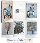 Norman Rockwell Signed Copy of Norman Rockwell Artist And Illustrator -- Large Coffee Table Book Measures 12.5 x 18.5