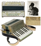 Shirley Temple Personally Owned Monogrammed Accordion