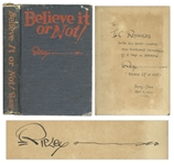 Robert Ripley Signed 1931 Believe it or Not! Book