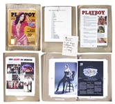 Hugh Hefner Signed Playboy Proof Copy -- October 2007 Issue Featuring Girls of the SEC