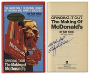Fast Food Visionary Ray Kroc Signed Copy of Grinding It Out: The Making of McDonalds