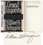 Chief Justice William Rehnquist Signed Edition of Grand Inquests
